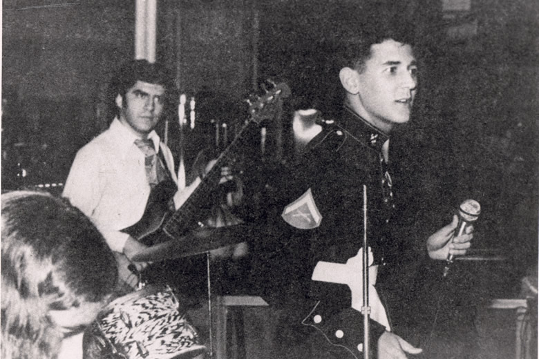 "Lance Corporal Cubillo, USMC, Nov 10, 1972 Pensacola, FL, singing at his first Marine Corps Ball....CCR*s ""Proud Mary\"""