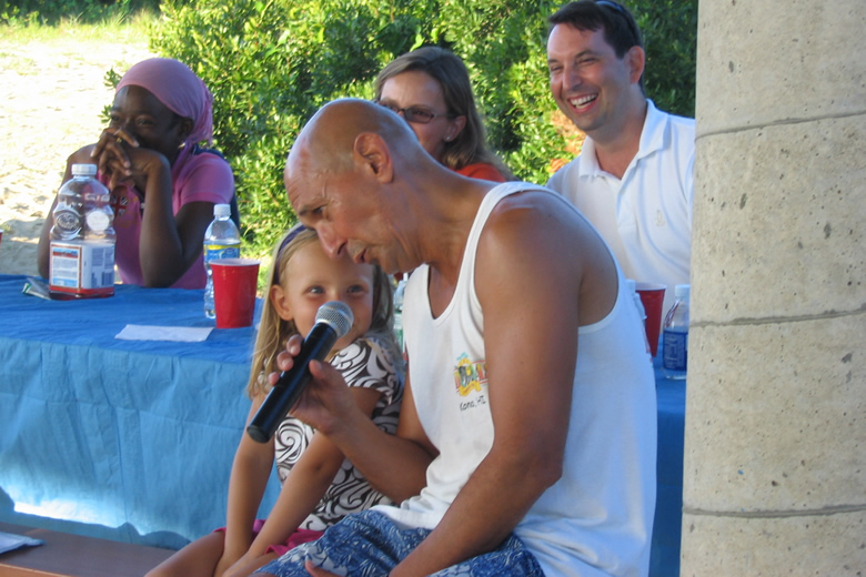 {Beautiful Girls, walk a little slower when you walk by me....} Frank serenades little girl at his Virginia Beach retirement party Aug 2009