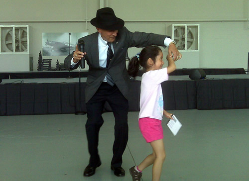 Frank dancing with Jiyoon Berris at the WWII Air Show in VA Beach May 21/22